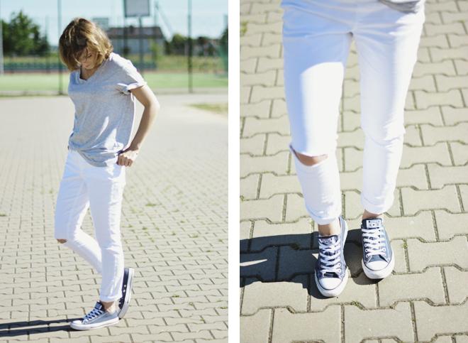 stylizacja z białymi spodniami