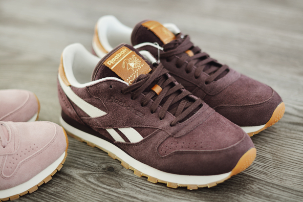 Reebok Classic Leather Suede bordowe
