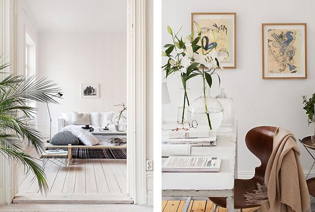 białe mieszkania
