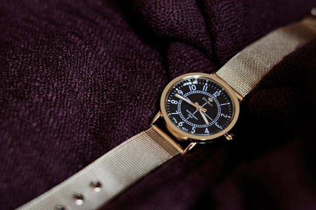 zegarek na bransolecie typu mesh