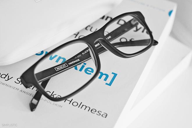 matowe okulary