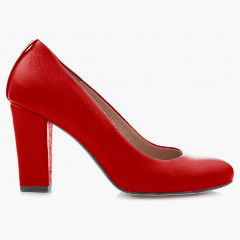 czerwone czółenka scarlett