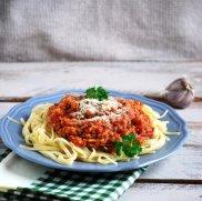 spaghetti z soczewica