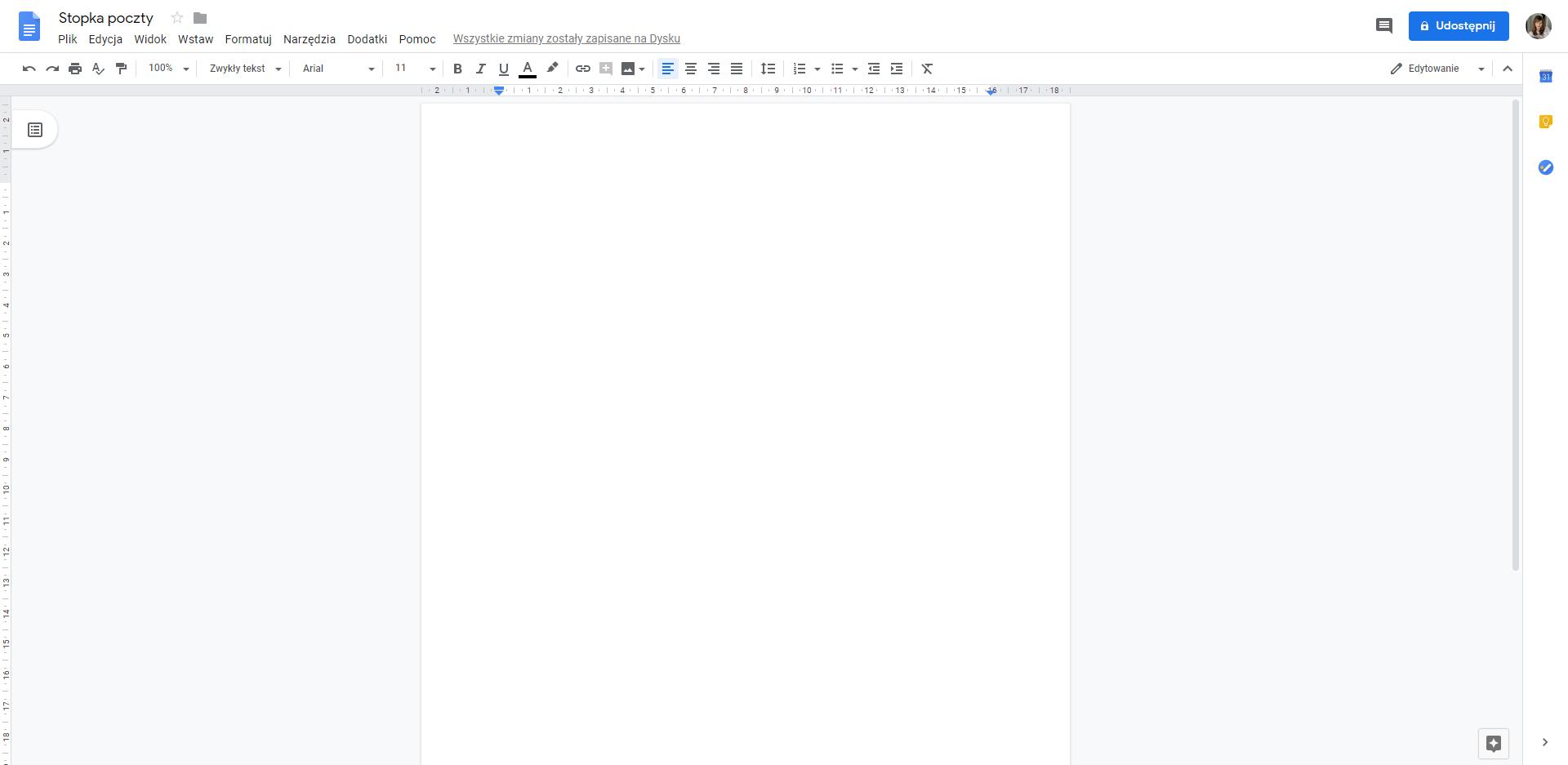 jak zrobić stopkę w gmailu