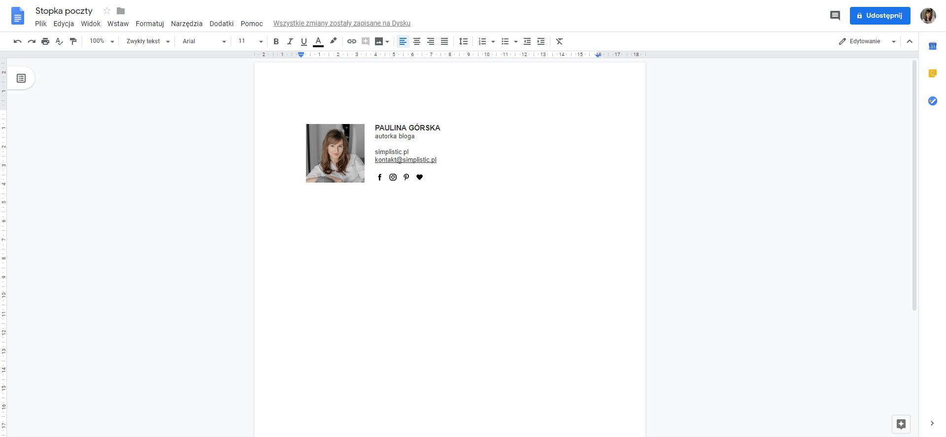 stopka na gmailu