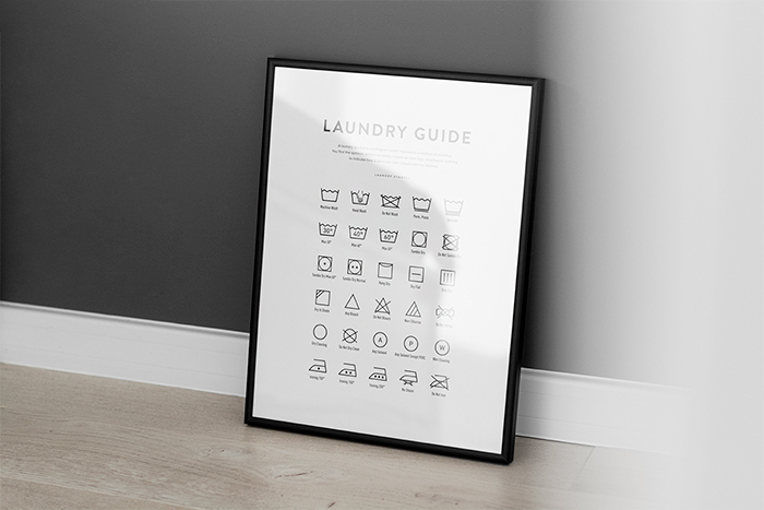 laundy guide plakat